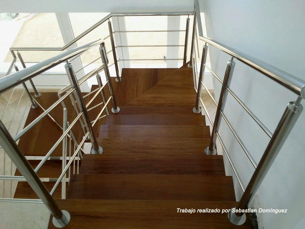 Barandillas escaleras n 1 acero inoxidable islamar huelva - Barandillas de seguridad para escaleras ...