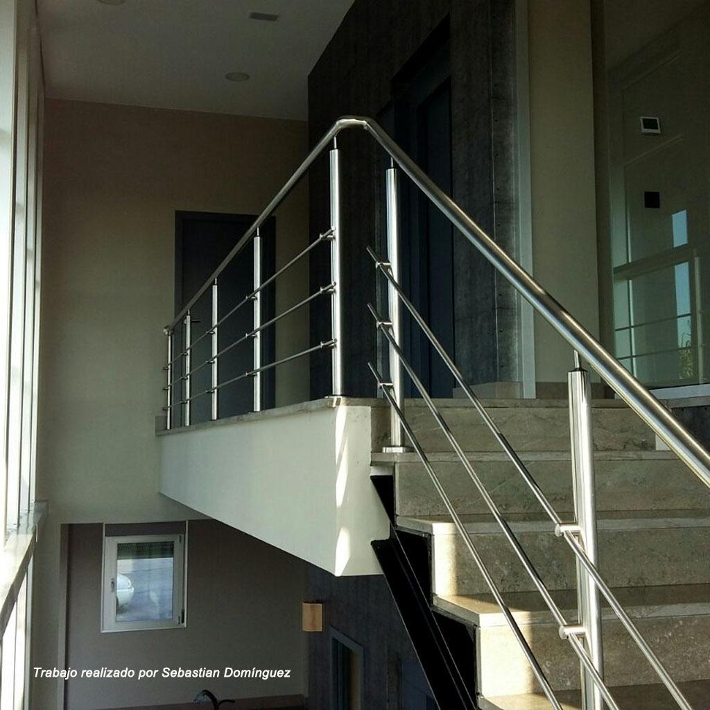 Barandillas escaleras n 12 acero inoxidable islamar huelva - Barandillas para escalera ...