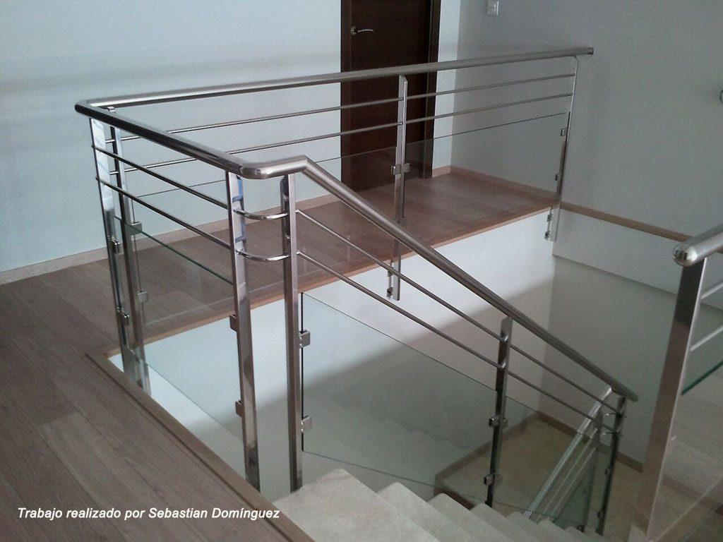 Barandillas escaleras n 13 acero inoxidable islamar huelva - Barandillas para escalera ...