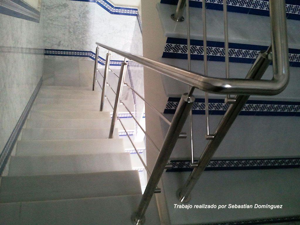 Barandillas escaleras n 7 acero inoxidable islamar huelva - Barandillas de escaleras ...