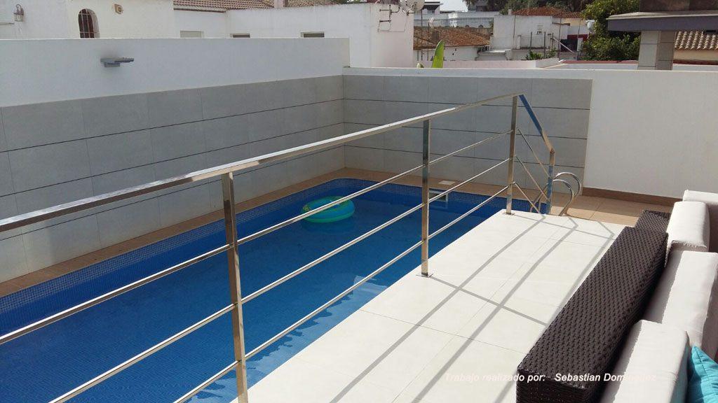 Barandilla piscina n 17 acero inoxidable islamar huelva - Piscina acero inoxidable ...