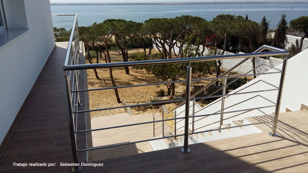 Barandilla y pasamano escalera n 5 acero inoxidable - Escaleras y barandillas ...