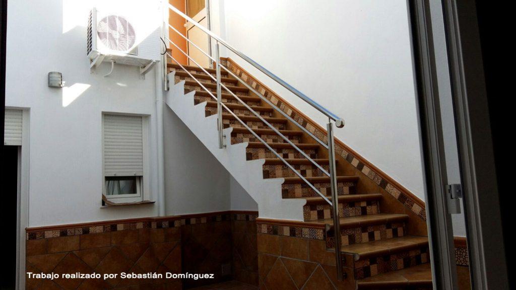 Barandillas escaleras n 16 acero inoxidable islamar huelva - Barandillas de seguridad para escaleras ...