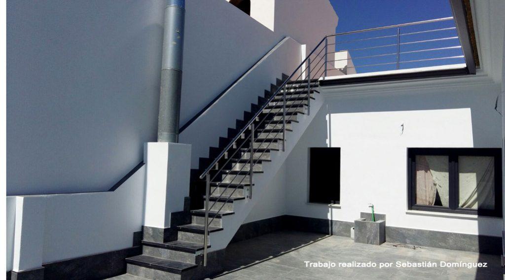 Barandillas escaleras n 17 acero inoxidable islamar huelva - Barandillas de escalera ...