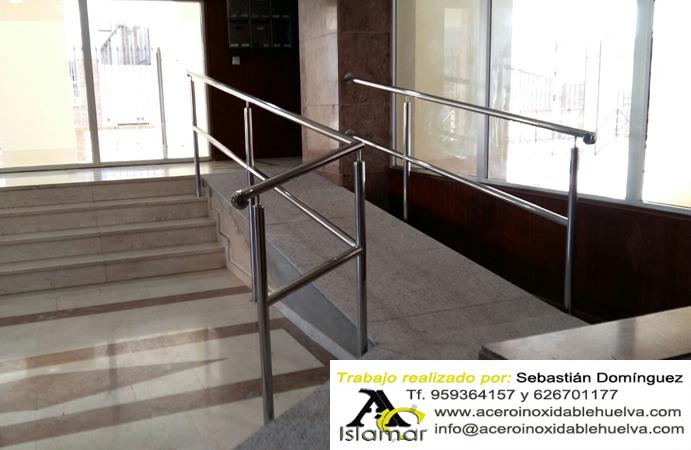 Barandas de seguridad para rampa en soportal interior en for Barandas de seguridad