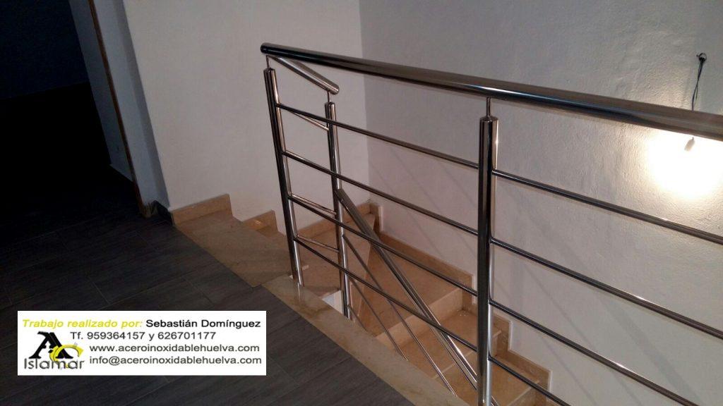 Barandilla en Acero Inox para escalera y Altillo