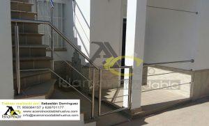 Barandilla acceso a vivienda Acero Inoxidable Islamar Huelva
