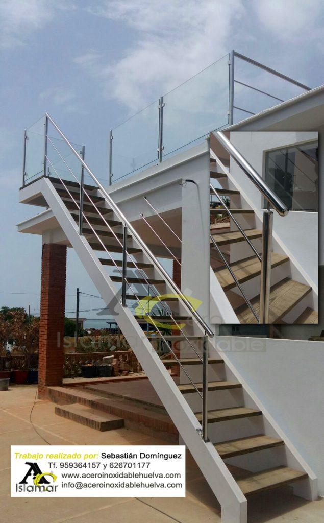 Baranda para escalera y Azotea – Acero Inoxidable Islamar Huelva
