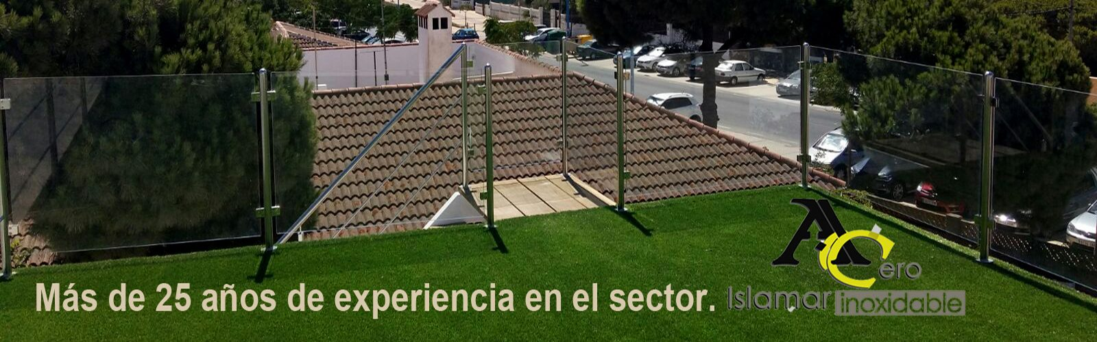 Baranda para Azotea – Acero Inoxidable Islamar Huelva