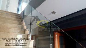 Baranda de Acero y Vidrio para escalera – Islamar Inoxidable Huelva