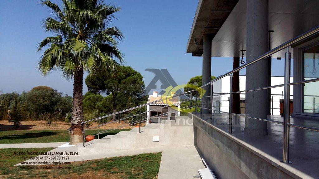 Baranda o barandilla para terrazas y escalera en Acero Inoxidable. #Valverde #Huelva