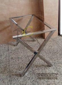Estructura para mesa rectangular en Acero Inoxidable.