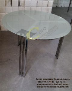 Estructura para mesa redonda en #Acero #Inoxidable .