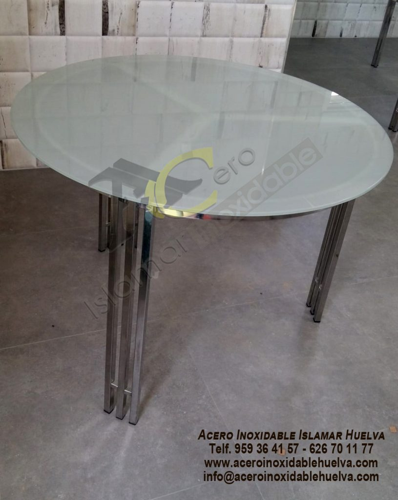 Mesa redonda Acero Inoxidable-Islamar Huelva