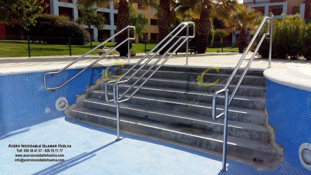 Pasamano escalera piscina en Acero Inoxidable-Islamar Huelva