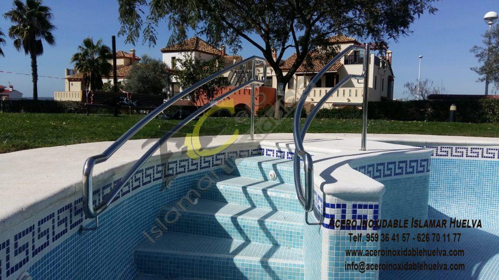 Barandilla escalera piscina Acero Inoxidable-Islamar Huelva