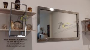 Marco espejo en Acero Inoxidable viselado – Islamar Huelva