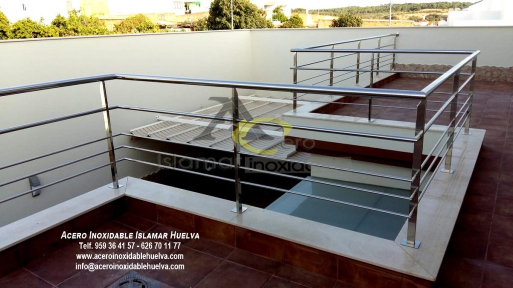 Barandilla Azotea en Acero Inoxidable-Islamar Huelva