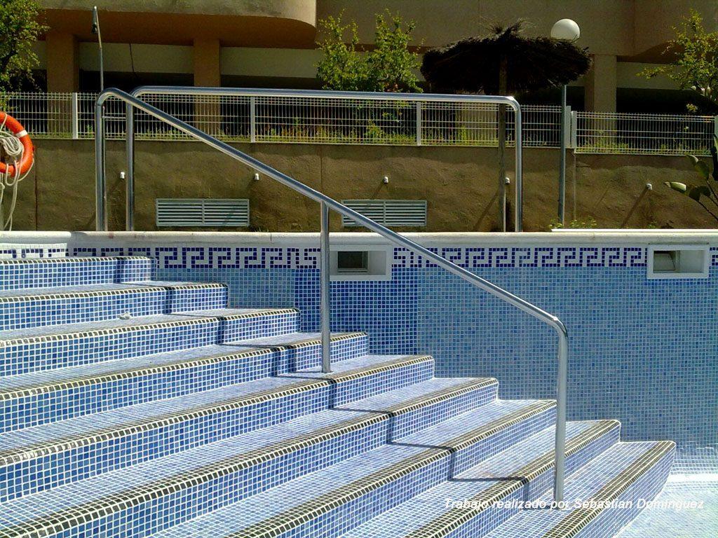Baranda para piscina Acero Inoxidable Islamar Huelva