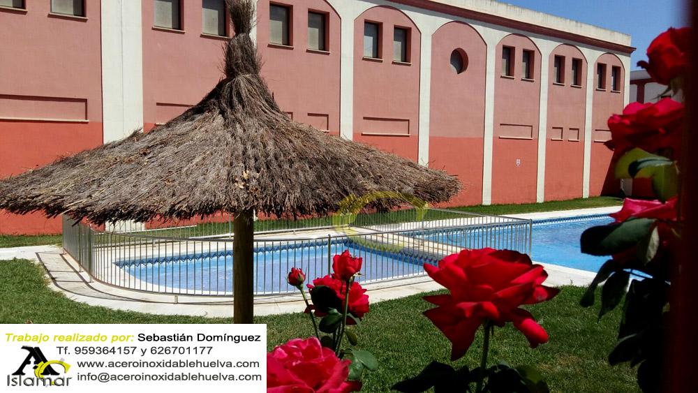 Barandilla de Seguridad para piscina infantil en Acero Inoxidable 316L.
