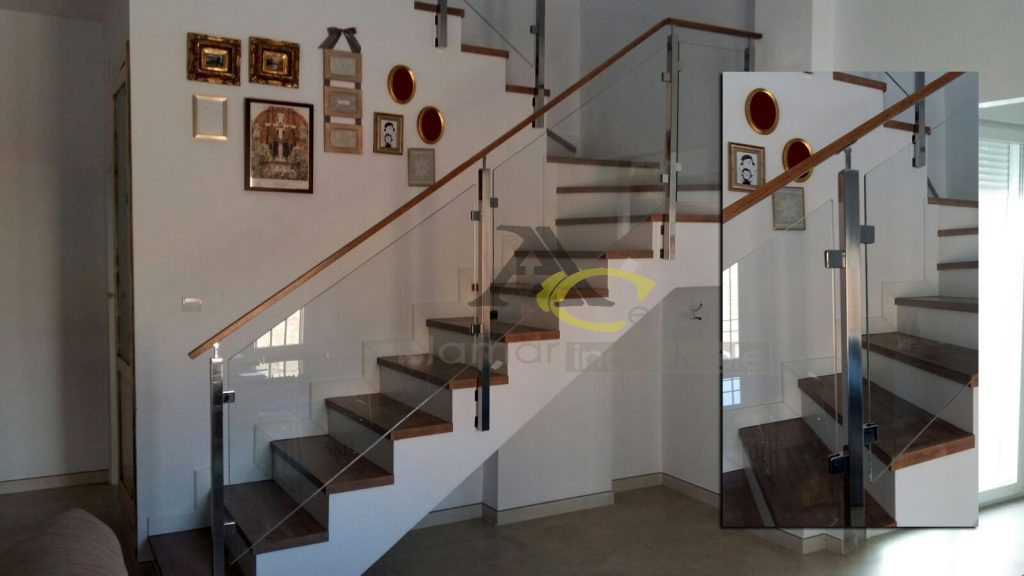 Barandilla de escalera.  Acero Inoxidable Islamar Huelva