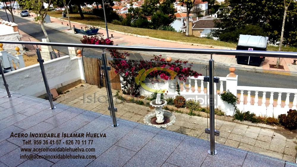 Balcon en Acero y Vidrios -Inoxidable Islamar Huelva