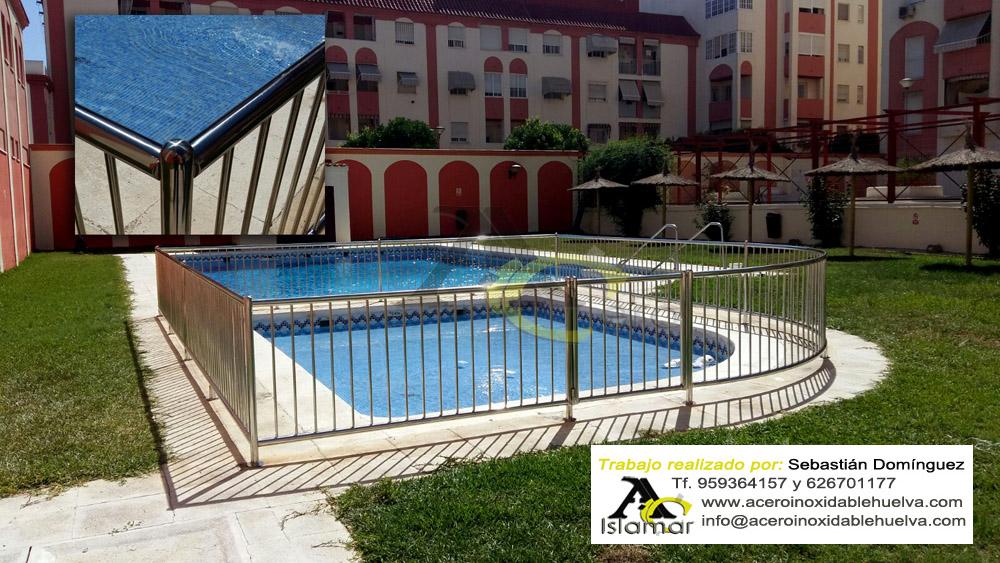 Barandilla para piscina en Acero Inoxidable-Islamar Huelva.