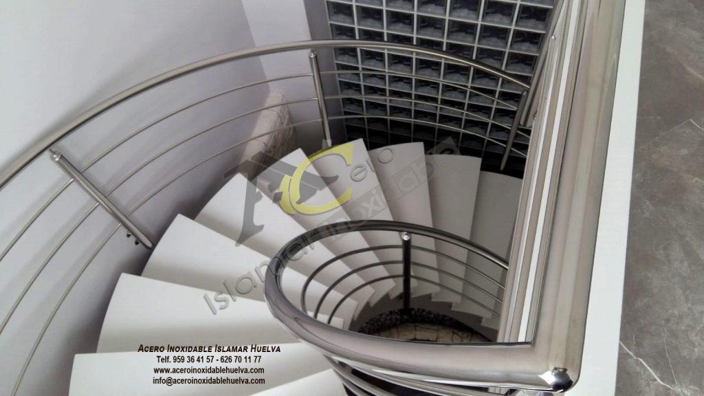 Barandas escalera Helicoidal en Acero Inoxidable-Islamar Huelva