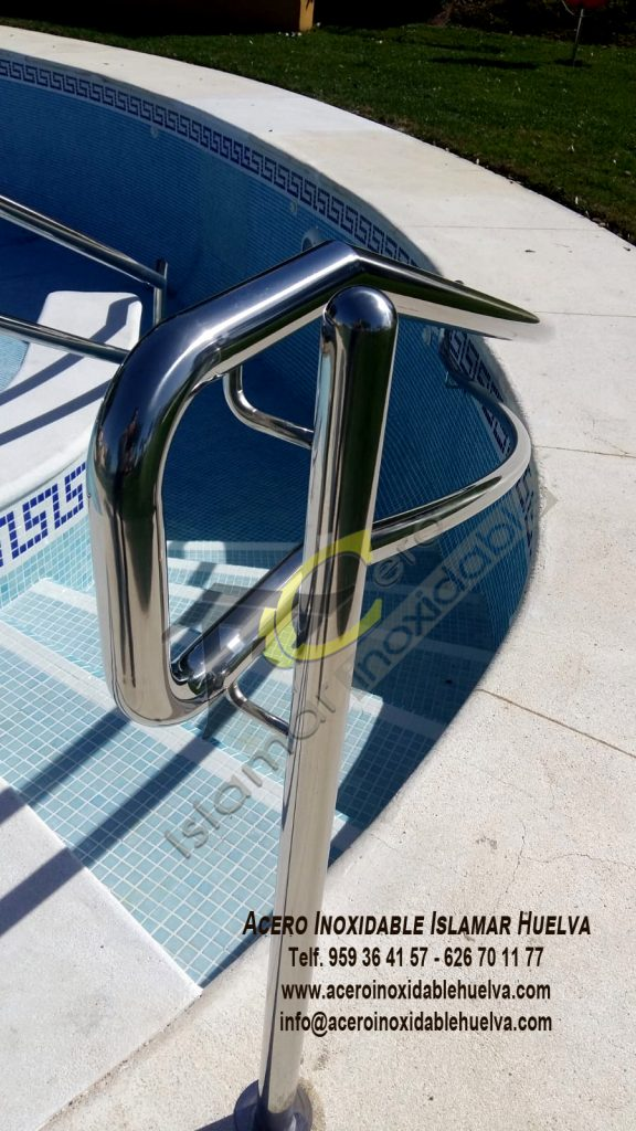 Pasamano escalera de piscina Acero Inoxidable-Islamar Huelva
