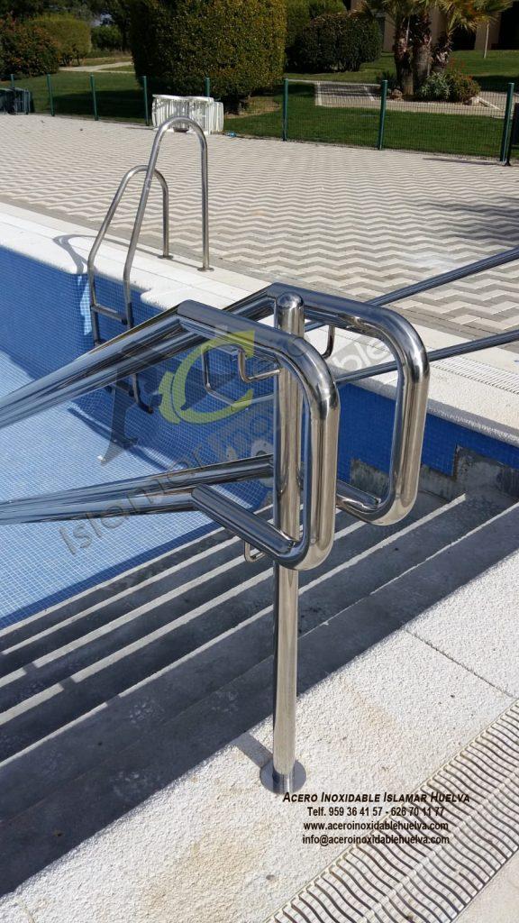 Pasamano escalera piscina Acero Inoxidable-Islamar Huelva